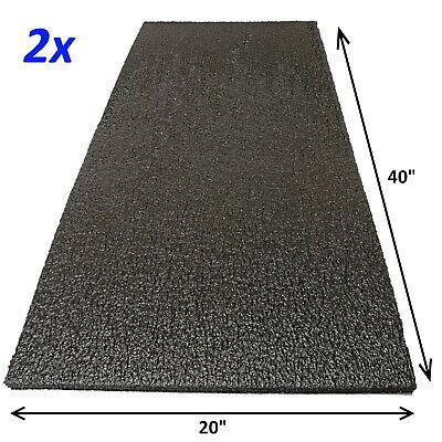 2x Foam Sheet 40x20x0.5 12 Thick Black Pe Packing Shipping Firm