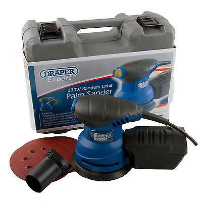 Draper Expert Random Orbit Palm Sander Power Sanding Tool +Orbital Sanding Discs