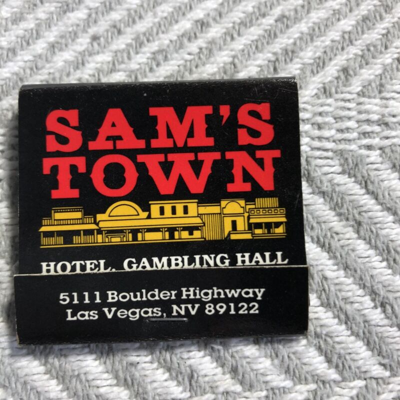 Vintage Matchbook Black Samstown Casino
