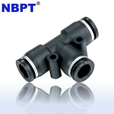 Pneumatic Tee Union Connector Tube 6 Mm Od One Touch Push In Air Fitting 10