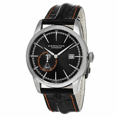 Hamilton Men's American Classic Railroad Leather Swiss Automatic Watch H40515731