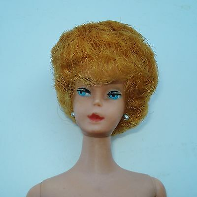Vintage 1961 ? Bubble Cut BARBIE Doll 1958 Patent Date RED HAIR?