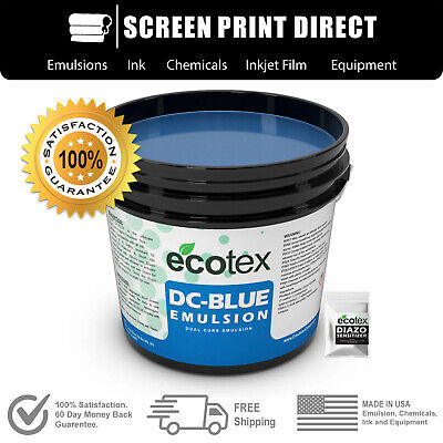 Ecotex Dual Cure Emulsion - Blue Graphic Dual Cure Screen Printing Emulsion -pt