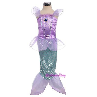 Mermaid Fairy Tales Costume Cosplay Fancy Party Outfit Dress Up Size 3T-6x - Mermaid Costume 3t