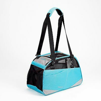 Bergan Dog Pet Cat Comfort Carrier Voyager Crate Bag Tote Airline SM Air Blue