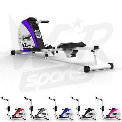 Elastic Cord Rowing Machine Body Tonner Home Rower Fitness Cardio Workout Purple