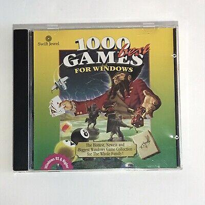 1000 Best Games For Windows PC CD-ROM Game Windows 95/98/NT 4.0 Cosmi