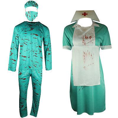 Zombie Nurse Outfit Halloween (BLOODY SURGEON NURSE HALLOWEEN COSTUME UNIFORM DRESS OUTFIT FANCY DRESS)