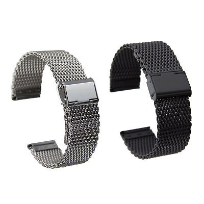 Wrist Watch Band for Skagen Stainless Steel Mesh Band with Double Lock Buckle ()