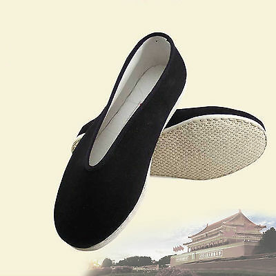 Chinese Traditional Martial Jackie Chan Kung Fu Shoes Slip On Cotton Sole Type A - Jackie Chan Costume