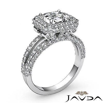 2.53ct Asscher Fancy Diamond Engagement 14K White Gold Halo G VS2 GIA Javda Ring