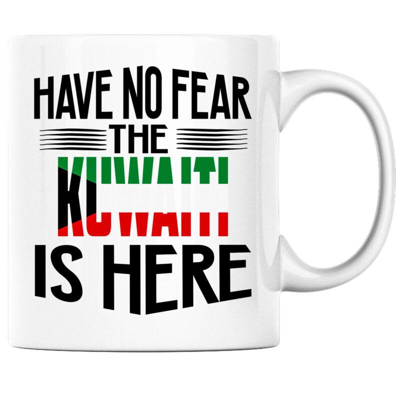 Have No Fear the Kuwaiti is Here Funny Coffee Mug Kuwait Heritage Pride