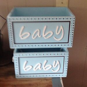 wooden decorative baby boxes
