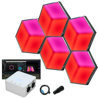 ADJ 3D VISION SYS ONE with 5x 3D Vision Hexagonal LED Effect Lights & MyDMX 3.0