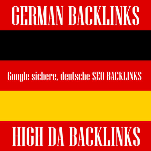 75x High Da Authority German Premium Seo - Google Secure German Backlinks HQ