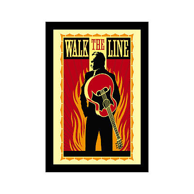 WALK THE LINE - 11x17 Framed Movie Poster by Wallspace for sale  Shipping to India
