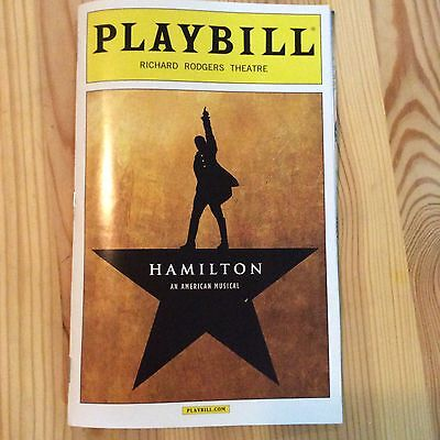 HAMILTON MUSICAL PLAYBILL NYC 2016 LIN MANUEL MIRANDA LESLIE ODOM JR 2nd Edition