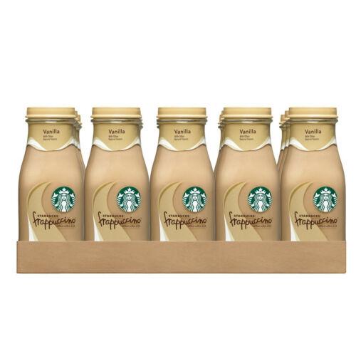 Starbucks Frappuccino Coffee Drink Vanilla W/ Arabica Beans 9.5 Ounce 15 Bottles