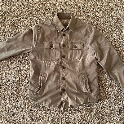 Abercrombie & Fitch Mens Heavy Weight Military Sawtooth Jacket Size S Green