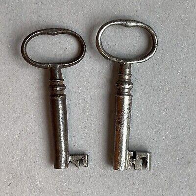 2x Vintage Antique Georgian Wire Bow Caddy Keys Collectable Wedding Decor
