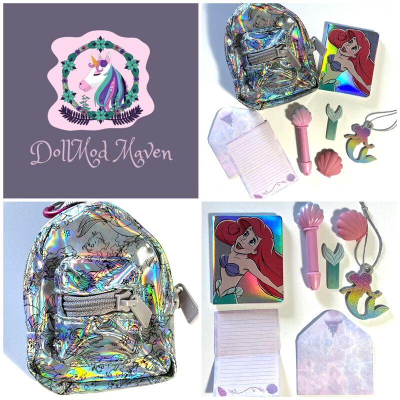 DollMod Maven🦄 Real Littles LITTLE MERMAID ARIEL Mini Backpack Disney Doll Lot