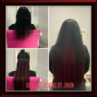 High quality of hair extensions hot fusion contact @7802983525