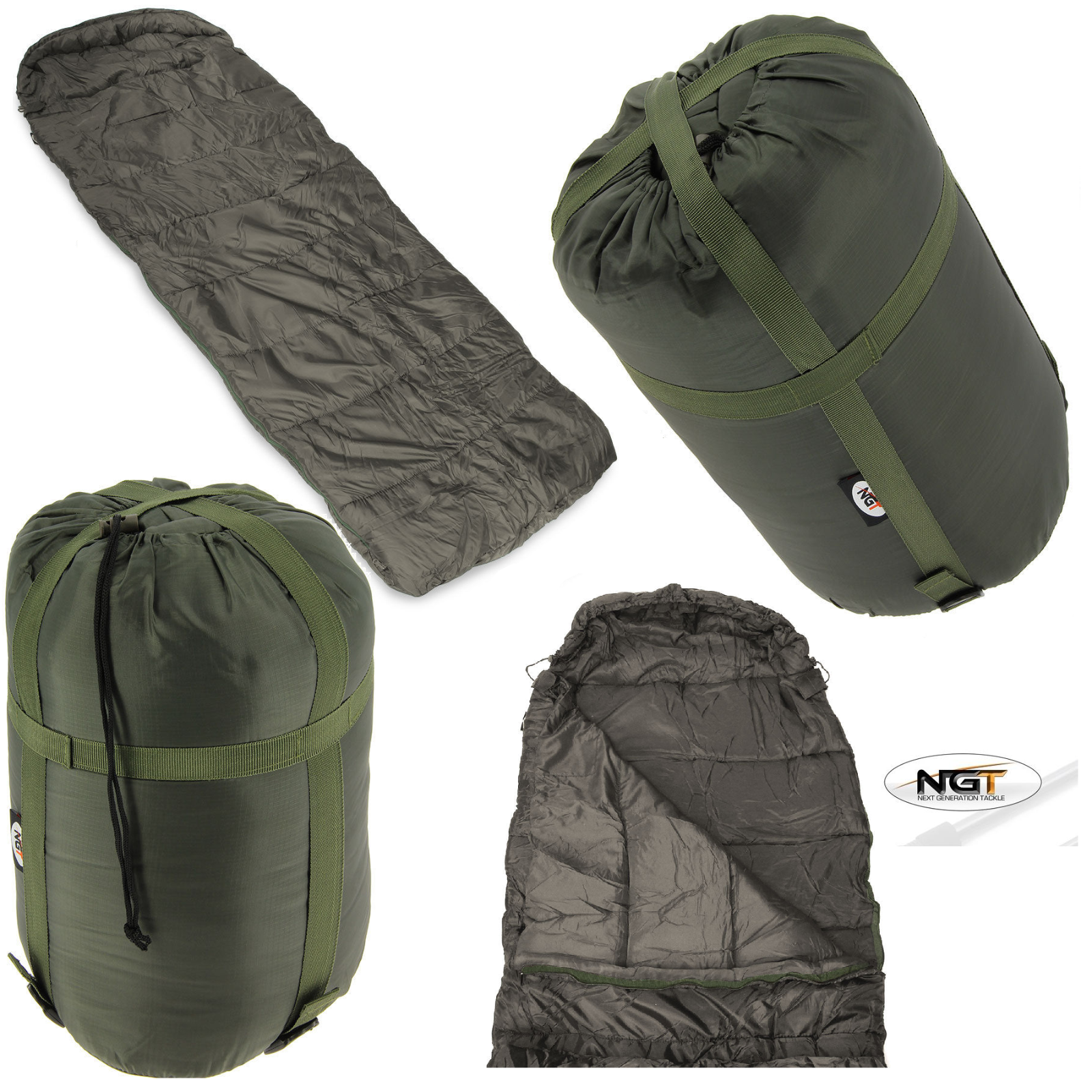 Ngt 3 4 Season Warm Sleeping Bag For Carp Fishing Beds Camping With Compression