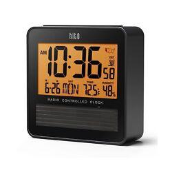 "hito 3.7"" Digital Battery Atomic Bedside Travel Alarm Clock Solar Panel Date ..."