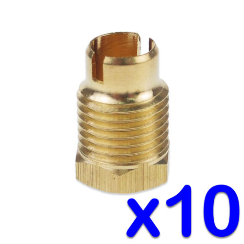 GAS+PILOT+ASSEMBLY+THERMOCOUPLE+NUTS+PACK+OF+10+BRASS+M10+LOCKING+THREAD