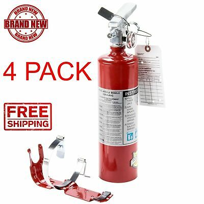 4x 2.5 Lb Fire Extinguisher Abc Drychemical Rechargeable Dot Vehicle Bracket Cps