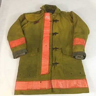 Morning Pride Firefighter Turnout Jacket Mens 40x40 Bunker Coat Quilted Liner