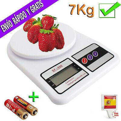 Bascula Balanza Peso Digital de Cocina Electronica 7KG Para Pesar Alimentos 7000