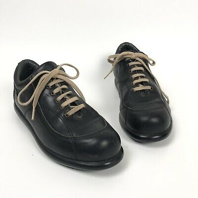 Camper Shoes Pelotas Size 36 6 Black Lace Up Sneakers Leather Shoes na sprzedaż  Wysyłka do Poland