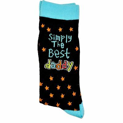 Simply The Best Daddy Socks Novelty Christmas Birthday Gift