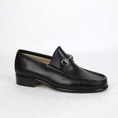 New Gucci Women's Black Leather Classic Horsebit Loafer 35C/US 5 013698 1000