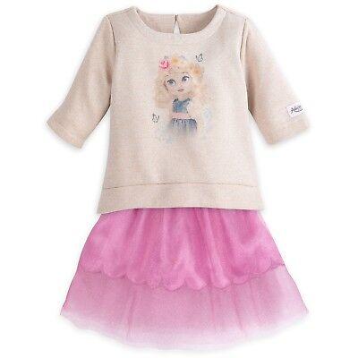 Disney Store Animator's Collection Cinderella Dress Set Girls Skirt Top Sz 9/10 - Cinderella Dress Collection