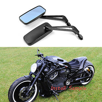 For Harley-Davidson Sportster 883 XL883 RECTANGLE STEADY REARVIEW MIRRORS 8/10MM