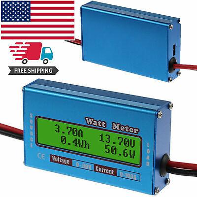 Digital Lcd 60v100a Dc Watt Power Volt Amp Rc Battery Analyzer Power Amp Meter