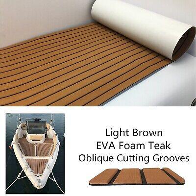 Faux EVA Teak Boat Flooring Sheet For Marine Yacht Deck 94.5