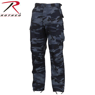 Mens Fatigue Pants - Rothco Midnight Blue Camo Tactical BDU Pants - Mens Military Style Cargo Fatigue