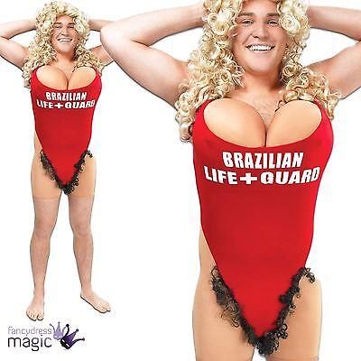 Erwachsene Herren haarig Mary Rettungsschwimmer Badeanzug lustig Hirsch Tun