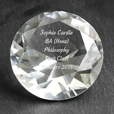 Personalised Engraved Diamond Paperweight - Valentines, Birthday, For Her