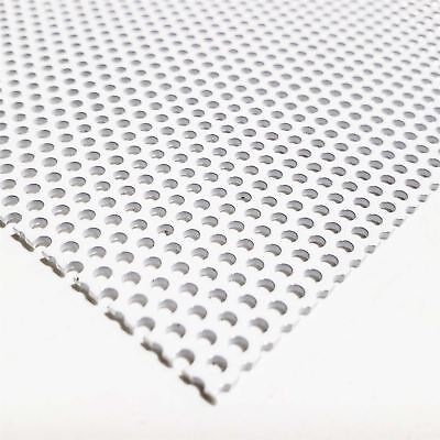 White Painted Aluminum Perforated Sheet 0.040 X 12 X 24 0.078 Hole