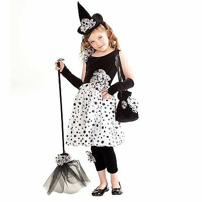 Princess Paradise Deluxe Polka Dot Witch Costume Dress & Hat L 10 NEW](Princess Paradise Costume)