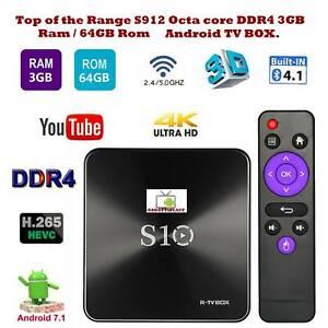 Higher spec Octa Core S10 3GB RAM DDR4 64GB ROM TV BOX KODI Andr Doveton Casey Area Preview