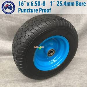 """16"""" 6.50-8 Solid PU Wheel Wheels Trolley Cart Wheelbarrow Tyres Epping Whittlesea Area Preview"""