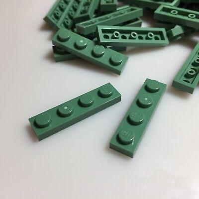 40 New Lego Sand Green 1X4 Plates  3710  Modular Liberty Statue