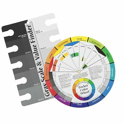 Color Wheel Pocket Guide with Gray Scale Value Finder - for both the amateur ...