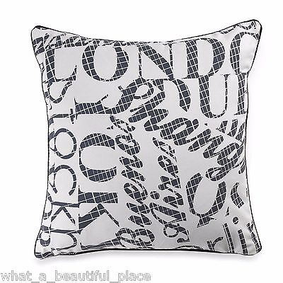 grand tour writing square toss pillow vintage