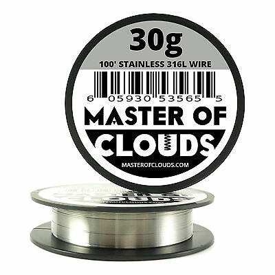 Ss 316l - 100 Ft. 30 Gauge Awg Stainless Steel Resistance Wire 0.25 Mm 30g 100